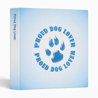 Proud Dog Lover 3 Ring Binder