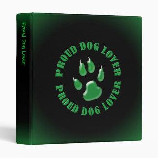 Proud Dog Lover Binders