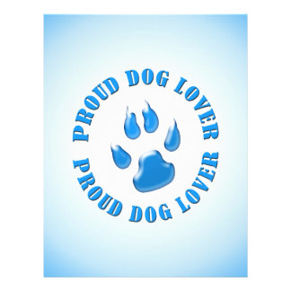 """Proud Dog Lover 8.5"""" X 11"""" Flyer"""