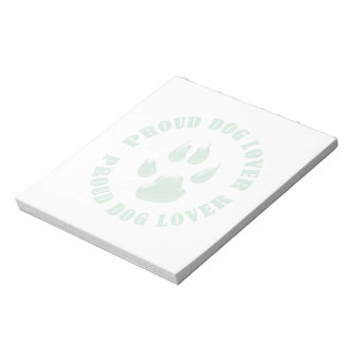 Proud Dog Lover Notepad