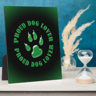 Proud Dog Lover Photo Plaques
