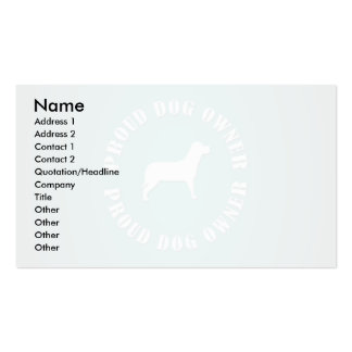 Proud Dog Owner Double-Sided Standard Business Cards (Pack Of 100)