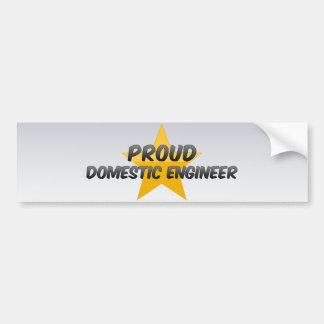Proud Domestic Engineer Car Bumper Sticker