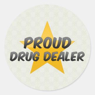 Proud Drug Dealer Round Stickers