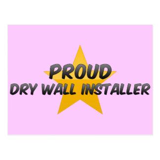 Proud Dry Wall Installer Postcard