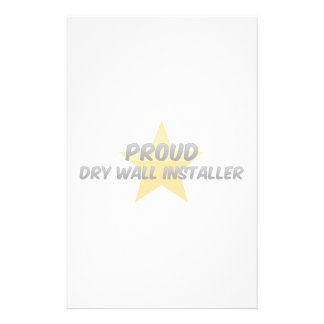 Proud Dry Wall Installer Customized Stationery
