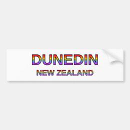 Proud Dunedin, New Zealand Bumper Sticker