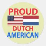 Proud Dutch American Sticker