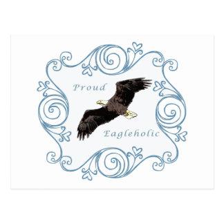 Proud Eagleholic Blue Postcard