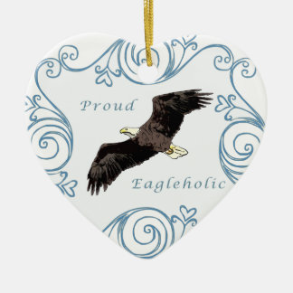 Proud Eagleholic Ceramic Ornament