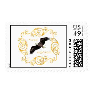 Proud Eagleholic Postage Stamp