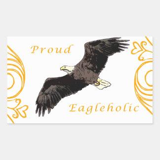 Proud Eagleholic Rectangular Sticker