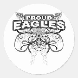 Proud Eagles Classic Round Sticker