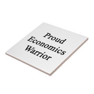 Proud Economics Warrior Small Square Tile