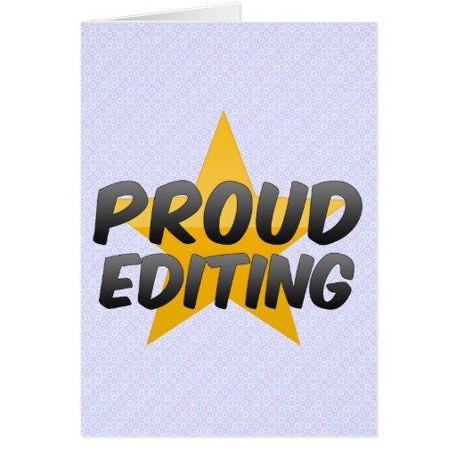 Proud Editing Greeting Card