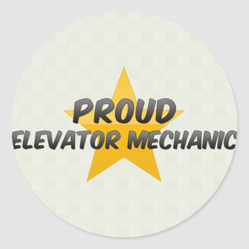 Proud Elevator Mechanic Round Stickers