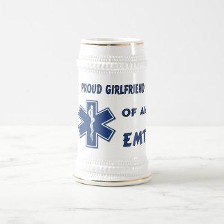 Proud EMT Girlfriend 18 Oz Beer Stein