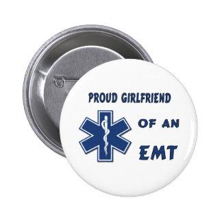 Proud EMT Girlfriend 2 Inch Round Button