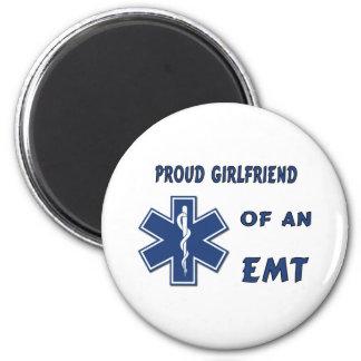 Proud EMT Girlfriend 2 Inch Round Magnet