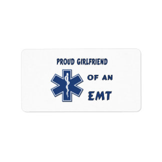 Proud EMT Girlfriend Address Label