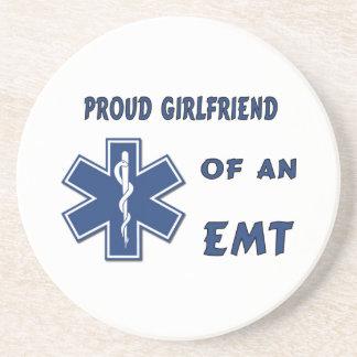 Proud EMT Girlfriend Beverage Coasters