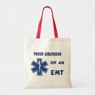 Proud EMT Girlfriend Budget Tote Bag