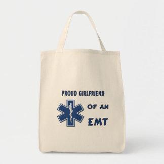 Proud EMT Girlfriend Grocery Tote Bag