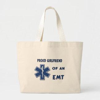 Proud EMT Girlfriend Jumbo Tote Bag