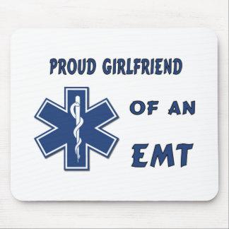 Proud EMT Girlfriend Mouse Pad