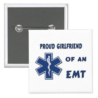 Proud EMT Girlfriend Pinback Button