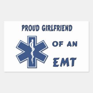 Proud EMT Girlfriend Rectangular Sticker