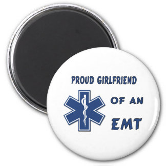 Proud EMT Girlfriend Refrigerator Magnets