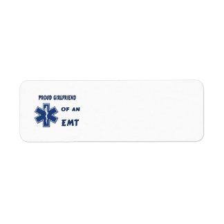 Proud EMT Girlfriend Return Address Label