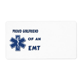 Proud EMT Girlfriend Shipping Label