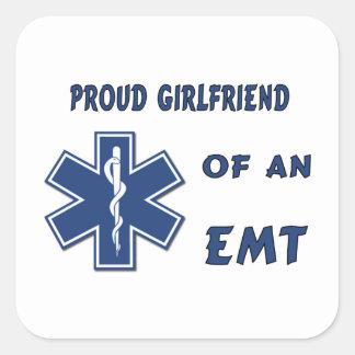 Proud EMT Girlfriend Square Sticker