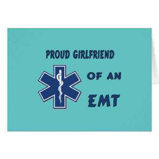Proud EMT Girlfriend Stationery Note Card