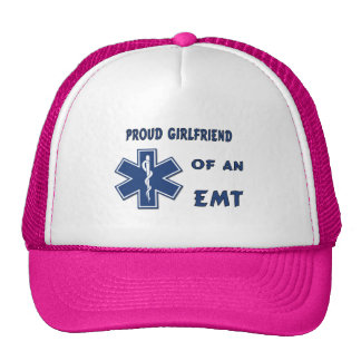 Proud EMT Girlfriend Trucker Hat