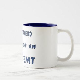 Proud EMT Girlfriend Two-Tone Coffee Mug