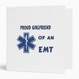 Proud EMT Girlfriend Vinyl Binders