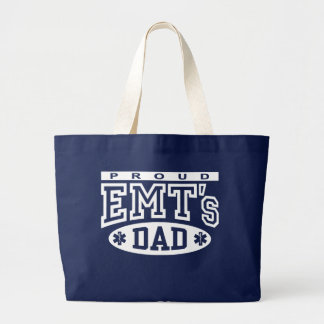 Proud EMT's Dad Jumbo Tote Bag