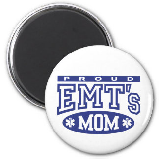 Proud EMT's Mom 2 Inch Round Magnet