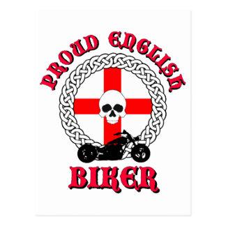 Proud English Biker Postcard
