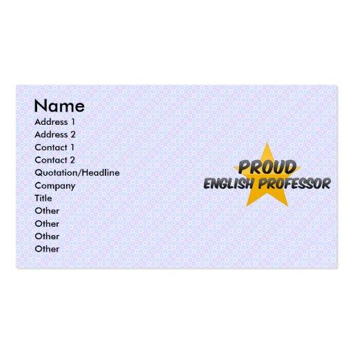 Proud English Professor Business Card