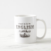 Proud English Teacher Victorian Coffee Mug