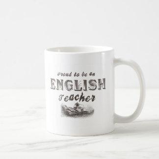 Proud English Teacher Victorian Classic White Coffee Mug