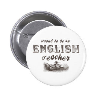 Proud English Teacher Victorian Pinback Button