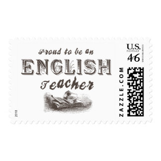 Proud English Teacher Victorian Stamps