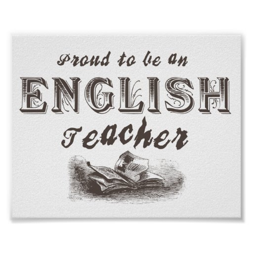 Proud English Teacher Victorian Print