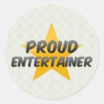 Proud Entertainer Round Stickers