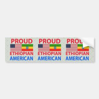 Proud Ethiopian American Car Bumper Sticker